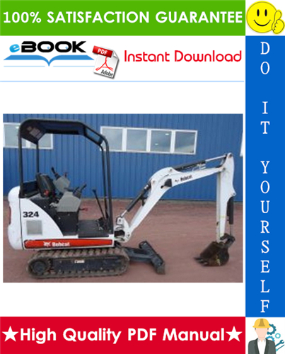 Thumbnail ☆☆ Best ☆☆ Bobcat 324 Compact Excavator Service Repair Manual + Operation & Maintenance Manual + Wiring/Hydraulic/Hydrostatic Schematic