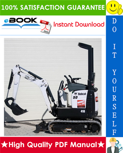 Thumbnail ☆☆ Best ☆☆ Bobcat 418 Compact Excavator Service Repair Manual + Operation & Maintenance Manual + Wiring/Hydraulic/Hydrostatic Schematic