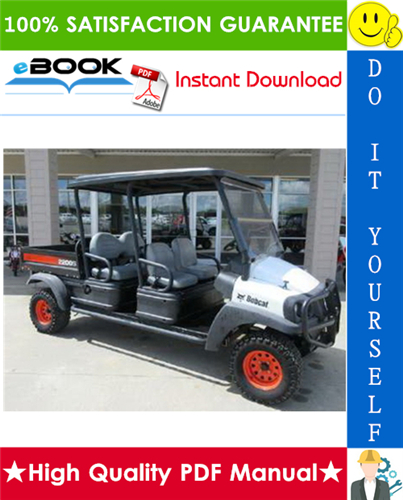 Thumbnail ☆☆ Best ☆☆ Bobcat 2200 Utility Vehicle Service Repair Manual + Operation & Maintenance Manual
