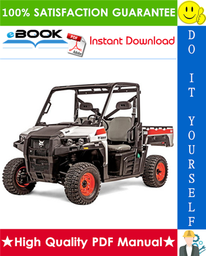 Thumbnail ☆☆ Best ☆☆ Bobcat 3400, 3400XL Utility Vehicle Service Repair Manual + Operation & Maintenance Manual + Wiring Schematic