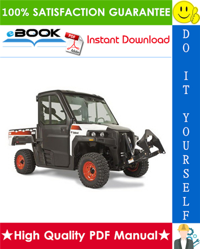 Thumbnail ☆☆ Best ☆☆ Bobcat 3450 Utility Vehicle Service Repair Manual + Operation & Maintenance Manual + Electrical/Wiring/Hydraulic/Hydrostatic Schematic