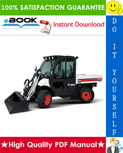 Thumbnail ☆☆ Best ☆☆ Bobcat Toolcat 5600 Utility Work Machine Service Repair Manual + Operation & Maintenance Manual + Electrical/Hydraulic/Hydrostatic Schematic