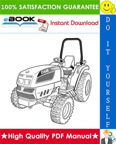 Thumbnail ☆☆ Best ☆☆ Bobcat CT440, CT445, CT450 Compact Tractor Service Repair Manual + Operation & Maintenance Manual + Wiring/Hydraulic/Hydrostatic Schematic