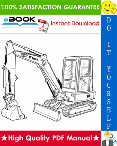 Thumbnail ☆☆ Best ☆☆ Bobcat E35 Compact Excavator Service Repair Manual + Operation & Maintenance Manual + Wiring/Hydraulic/Hydrostatic Schematic