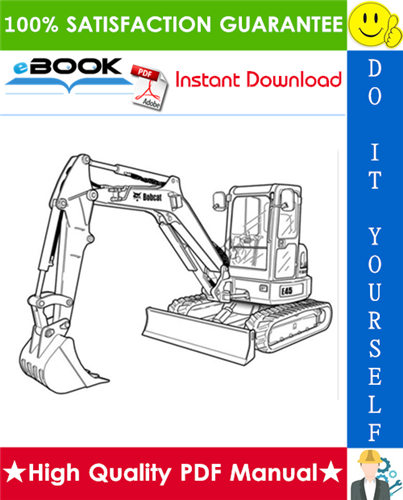 Thumbnail ☆☆ Best ☆☆ Bobcat E45 Compact Excavator Service Repair Manual + Operation & Maintenance Manual + Wiring/Hydraulic/Hydrostatic Schematic