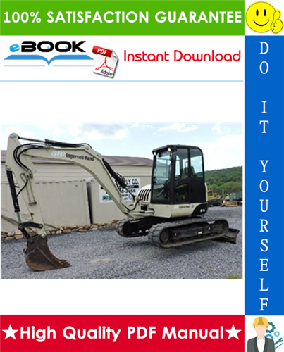 Thumbnail ☆ High-Quality ☆ Ingersoll Rand ZX75, ZX125 Load Excavator Service Repair Manual + Operation & Maintenance Manual
