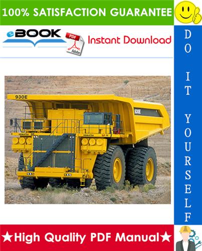 Thumbnail ☆☆ Best ☆☆ Komatsu 930E-4 Dump Truck Field Assembly Manual (Serial Number: A30462 & UP)