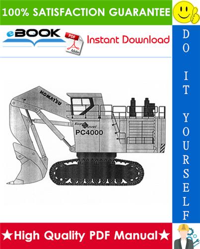 Thumbnail ☆☆ Best ☆☆ Komatsu Hydraulic mining Shovel PC4000 General Assembly Procedure Manual