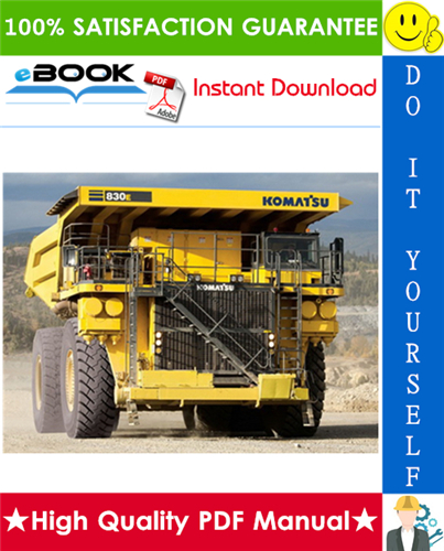 Thumbnail ☆☆ Best ☆☆ Komatsu 830E Dump Truck Service Repair Manual (Serial Number: A30662, A30677 thru A30688)