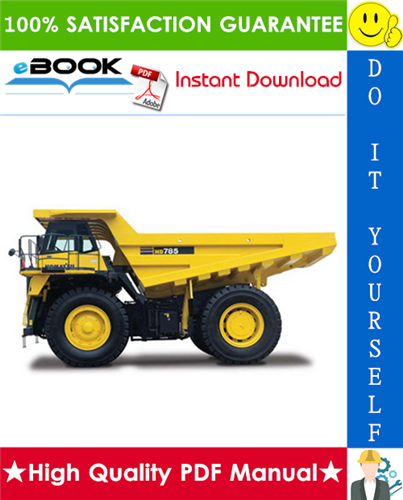Thumbnail ☆☆ Best ☆☆ Komatsu HD785-5 Dump Truck Field Assembly Manual (Serial Number: 4001 and up)
