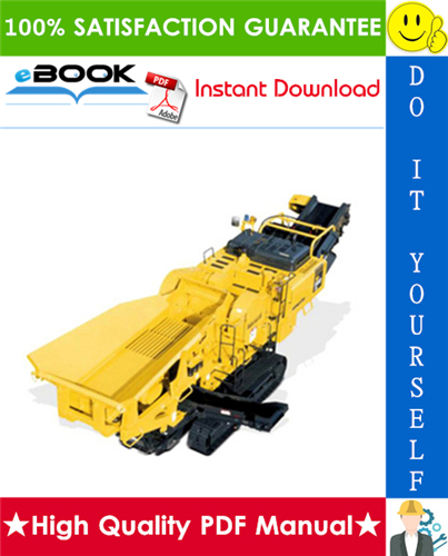 Thumbnail ☆☆ Best ☆☆ Komatsu BR550JG-1 Mobile Crusher Field Assembly Manual (Serial Number: 1001 and up)