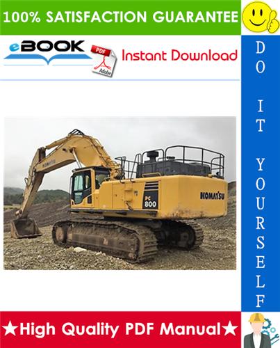Thumbnail ☆☆ Best ☆☆ Komatsu PC800-8, PC800LC-8, PC800SE-8, PC850-8, PC850SE-8 Hydraulic Excavator Field Assembly Manual