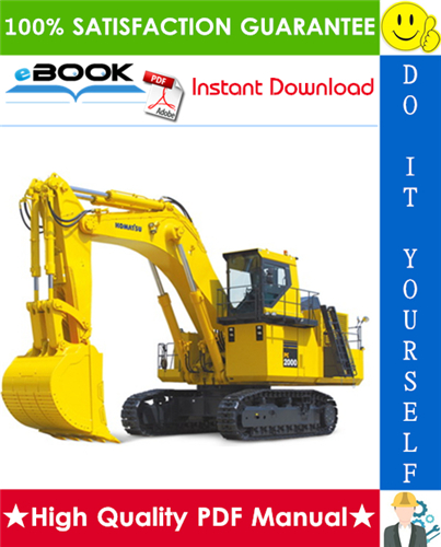 Thumbnail ☆☆ Best ☆☆ Komatsu PC2000-8 Hydraulic Excavator Field Assembly Manual (Serial Number: 20001 and up)