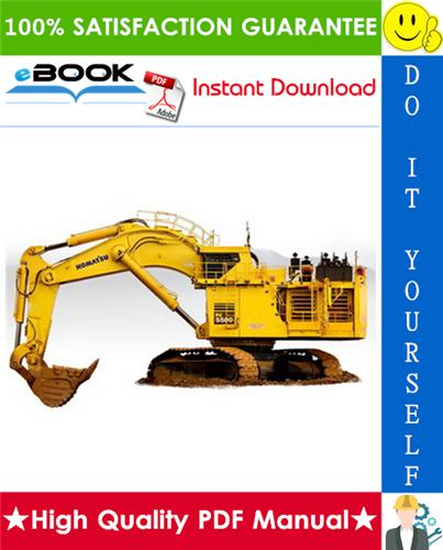 Thumbnail ☆☆ Best ☆☆ Komatsu PC5500-6 Hydraulic Mining Shovel Operation & Maintenance Manual (Serial Number: 15036)