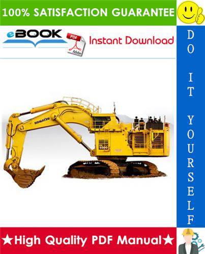 Thumbnail ☆☆ Best ☆☆ Komatsu PC5500-6 Hydraulic Mining Shovel Operation & Maintenance Manual (Serial Number: 15045 and up)
