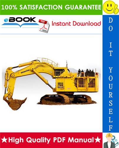Thumbnail ☆☆ Best ☆☆ Komatsu PC5500-6 Hydraulic Mining Shovel Operation & Maintenance Manual (Serial Number: 15049 and up)