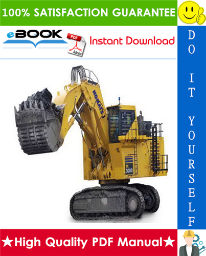 Thumbnail ☆☆ Best ☆☆ Komatsu PC3000-6 Hydraulic Mining Shovel Operation & Maintenance Manual (Serial Number: 6224)