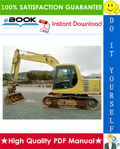 Thumbnail ☆☆ Best ☆☆ Komatsu PC100-6, PC120-6, PC130-6 Mighty Hydraulic Excavator Operation & Maintenance Manual (Serial Number: 45001 and up)