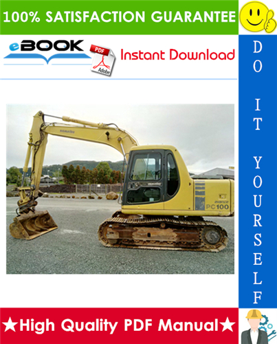 Thumbnail ☆☆ Best ☆☆ Komatsu PC100-6, PC100L-6, PC120-6, PC130-6 Mighty Hydraulic Excavator Operation & Maintenance Manual  (Serial Number: 41401 and up, 15106 and up, 50201 and up)