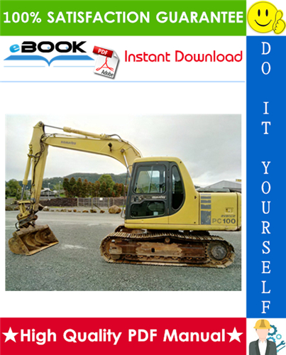 Thumbnail ☆☆ Best ☆☆ Komatsu Pc100-6, Pc100l-6, Pc120-6, Pc130-6 Mighty Hydraulic Excavator Operation & Maintenance Manual  (Serial Number: 45221 and up, 15200 and up, 57499 and up,