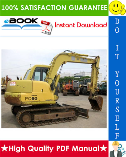 Thumbnail ☆☆ Best ☆☆ Komatsu PC60-7 Hydraulic Excavator Operation & Maintenance Manual (Serial Number: 52374 and up)