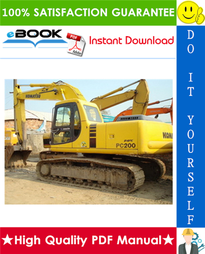 Thumbnail ☆☆ Best ☆☆ Komatsu PC200-6 Hydraulic Excavator Operation & Maintenance Manual (Serial Number: C10001 and up)