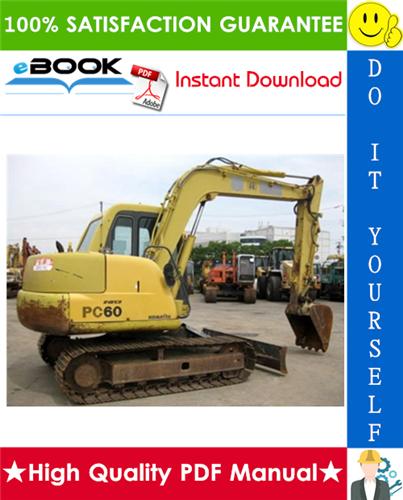 Thumbnail ☆☆ Best ☆☆ Komatsu PC60-7 Hydraulic Excavator Operation & Maintenance Manual (Serial Number: 58001 and up)