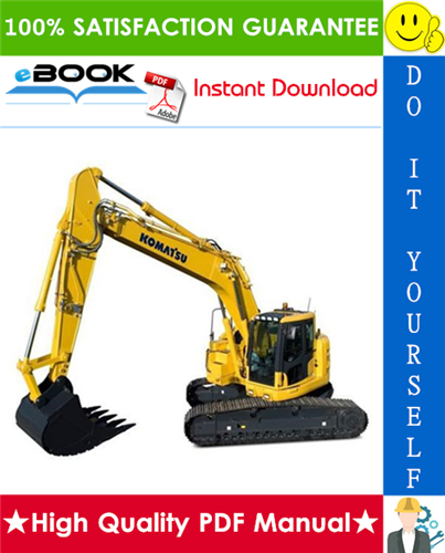 Thumbnail ☆☆ Best ☆☆ Komatsu PC228US-3, PC228USLC-3 Hydraulic Excavator Operation & Maintenance Manual (Serial Number: 20001 and up)