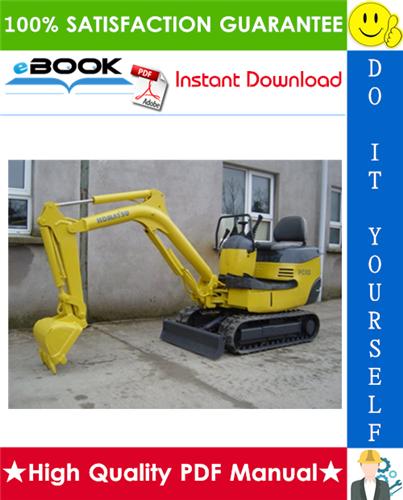 Thumbnail ☆☆ Best ☆☆ Komatsu PC03-2 Hydraulic Excavator Operation & Maintenance Manual (Serial Number: 21587 and up)