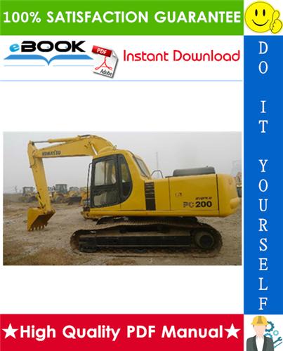 Thumbnail ☆☆ Best ☆☆ Komatsu PC200-7, PC200LC-7, PC200-7B, PC200LC-7B, PC220-7, PC220LC-7 Hydraulic Excavator Operation & Maintenance Manual