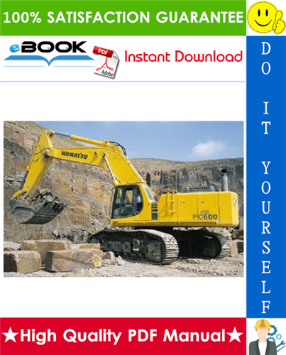 Thumbnail ☆☆ Best ☆☆ Komatsu PC600-6, PC600LC-6 Hydraulic Excavator Operation & Maintenance Manual  (Serial Number: 11001 and up, 11064 and up)