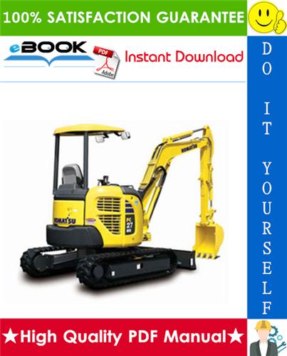 Thumbnail ☆☆ Best ☆☆ Komatsu PC27MR-X1, PC30MR-X1, PC35MR-X1 Hydraulic Excavator Operation & Maintenance Manual