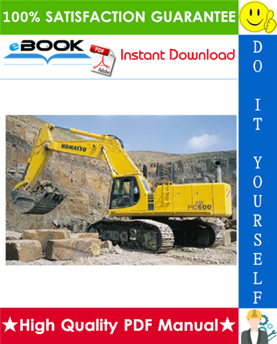Thumbnail ☆☆ Best ☆☆ Komatsu PC600-6, PC600LC-6 Hydraulic Excavator Field Assembly Manual (Serial Number: 11001 and up)