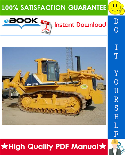 Thumbnail ☆☆ Best ☆☆ Komatsu D375A-5 Bulldozer Field Assembly Manual (Serial Number: 18001 and up)