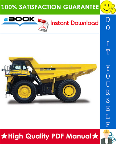 Thumbnail ☆☆ Best ☆☆ Komatsu HD785-3 Dump Truck Field Assembly Manual (Serial Number: 2001 and up)