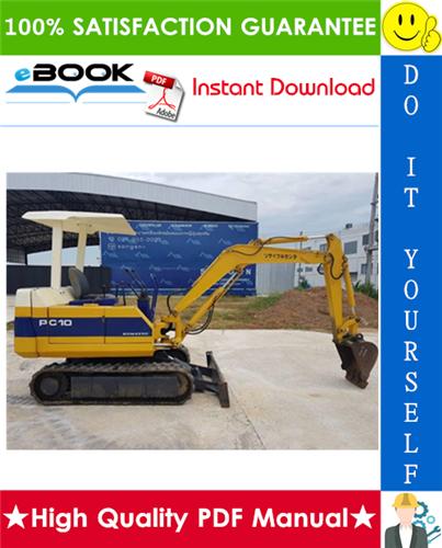 Thumbnail ☆☆ Best ☆☆ Komatsu PC10-7, PC15-3, PC20-7 Hydraulic Excavator Service Repair Manual