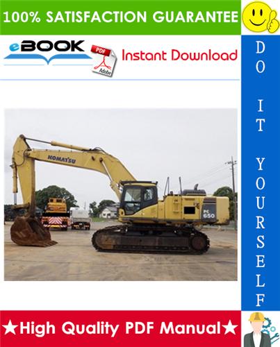 Thumbnail ☆☆ Best ☆☆ Komatsu PC650-5, PC710-5 Hydraulic Excavator Service Repair Manual