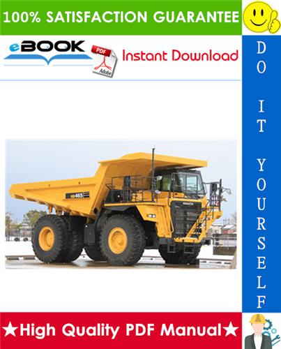 Thumbnail ☆☆ Best ☆☆ Komatsu HD465-5, HD605-5 Dump Truck Service Repair Manual