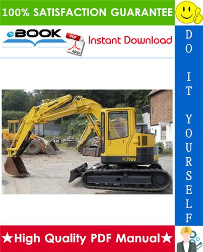 Thumbnail ☆☆ Best ☆☆ Komatsu PC75UU-3 Hydraulic Excavator Service Repair Manual (Serial Number: 15001 and up)
