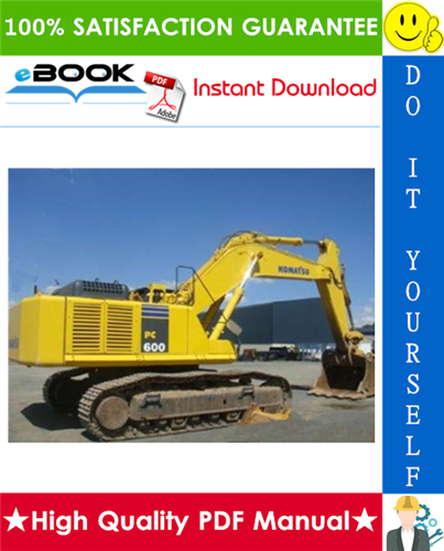 Thumbnail ☆☆ Best ☆☆ Komatsu PC600-6, PC600LC-6 Hydraulic Excavator Service Repair Manual (Serial Number: 10001 and up)