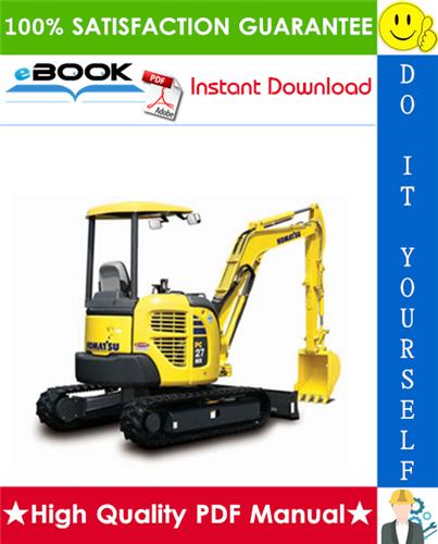 Thumbnail ☆☆ Best ☆☆ Komatsu PC27MR-2, PC30MR-2, PC35MR-2, PC40MR-2, PC50MR-2 Hydraulic Excavator Service Repair Manual