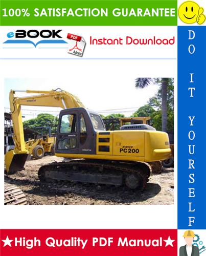 Thumbnail ☆☆ Best ☆☆ Komatsu PC200-3, PC210-3, PC220-3, PC240-3 Hydraulic Excavator Service Repair Manual