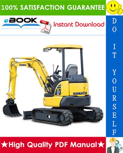 Thumbnail ☆☆ Best ☆☆ Komatsu PC27MR-3, PC30MR-3, PC35MR-3 Hydraulic Excavator Service Repair Manual