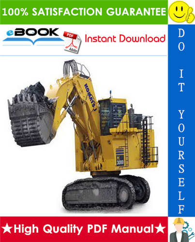 Thumbnail ☆☆ Best ☆☆ Komatsu PC3000-1 Hydraulic Mining Shovel Service Repair Manual (Serial Number: 6225)