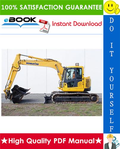 Thumbnail ☆☆ Best ☆☆ Komatsu PC138US-2, PC138USLC-2E0 Hydraulic Excavator Operation & Maintenance Manual