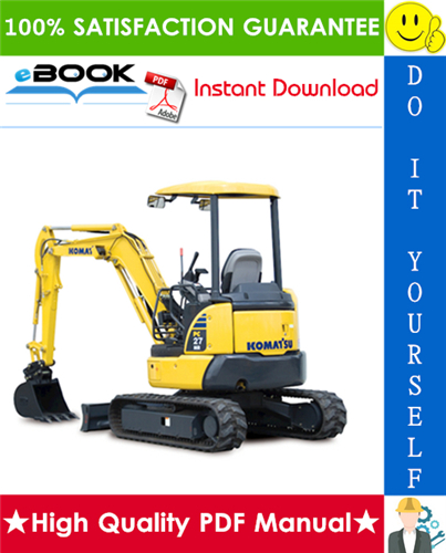 Thumbnail ☆☆ Best ☆☆ Komatsu PC27MR-2, PC35MR-2 Hydraulic Excavator Operation & Maintenance Manual  (Serial Number: 15001 and up, 5566 and up)