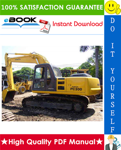 Thumbnail ☆☆ Best ☆☆ Komatsu PC200-8, PC200LC-8, PC220-8, PC220LC-8 Hydraulic Excavator Operation & Maintenance Manual  (Serial Number: 310001 and up, 80001 and up)