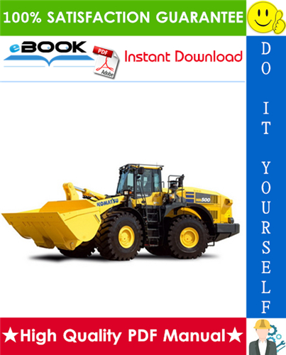 Thumbnail ☆☆ Best ☆☆ Komatsu WA500-6 Wheel Loader Operation & Maintenance Manual (Serial Number: 55376 and up)