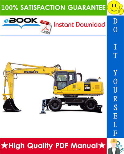 Thumbnail ☆☆ Best ☆☆ Komatsu PW200-7K, PW220-7K Hydraulic Excavator Service Repair Manual (Serial Number: K40001 and up)