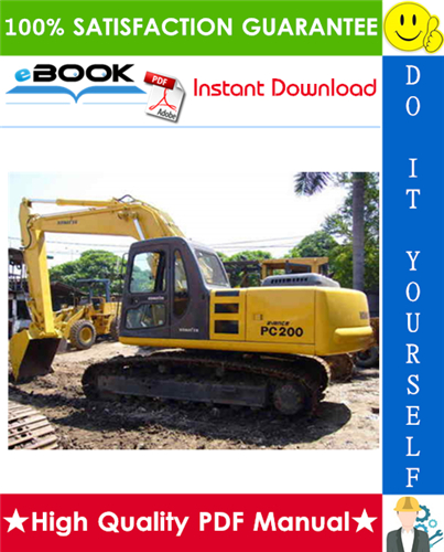 Thumbnail ☆☆ Best ☆☆ Komatsu PC200-7, PC200LC-7, PC210-7, PC210LC-7, PC220-7, PC220LC-7 Hydraulic Excavator Operation & Maintenance Manual (Serial Number: DBB0001 and up, DBE0001 and